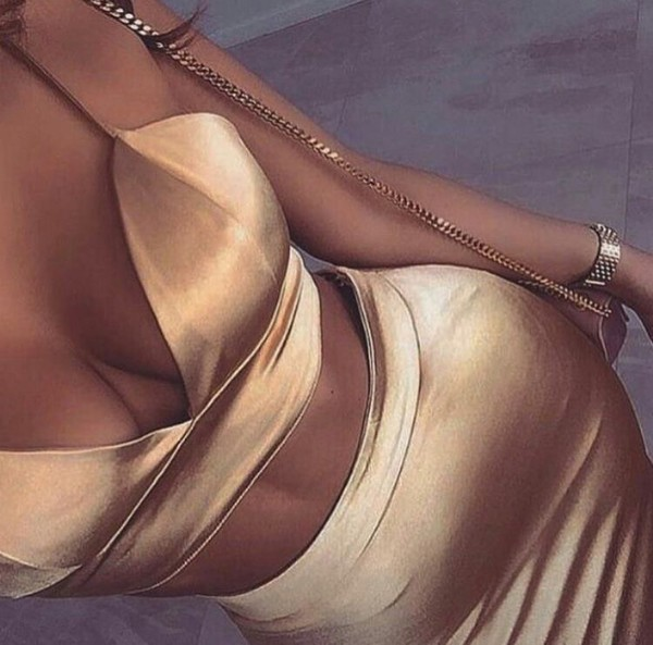 dress sexy gold satin silk top skirt bralette bra cute outfits tumblr tumblr outfit two-piece purse pinterest