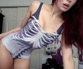 swimwear,one piece,summer,grey,bones,print,printed swimwear,beautiful,style