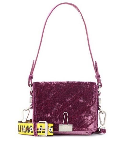 Off-White bag shoulder bag velvet purple