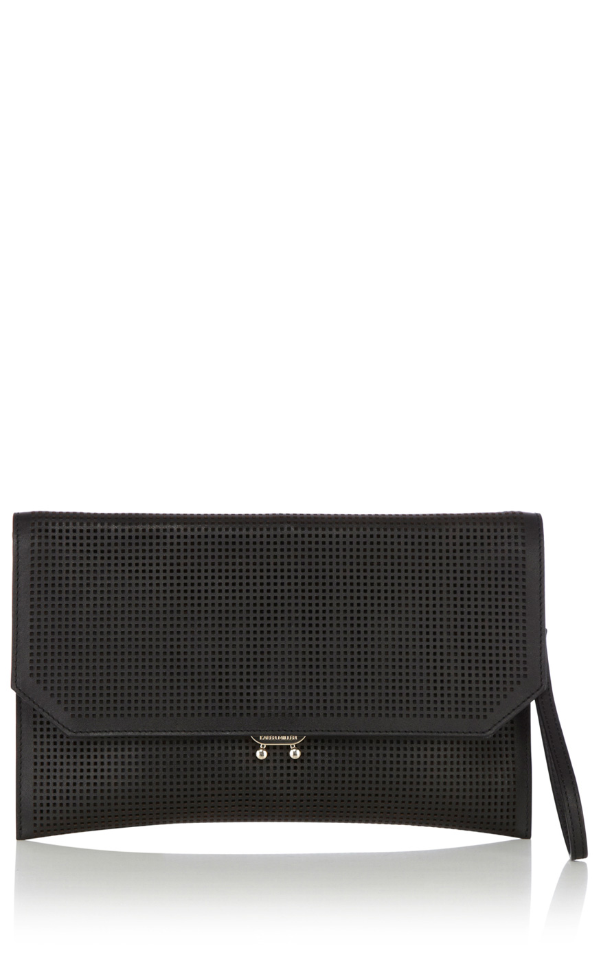 Perforated clutch | Luxury Women's sportsluxe | Karen Millen