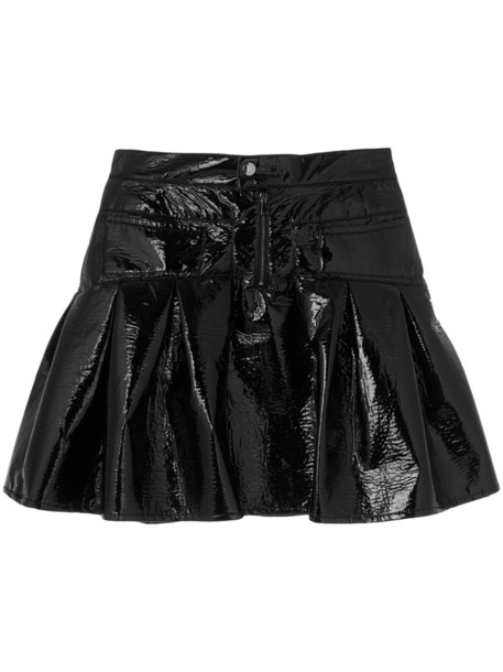 Giamba skirt mini skirt mini women leather black