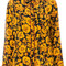 Kenzo - abstract foliage print shirt - women - silk - 40, silk