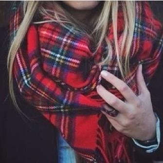 scarf tartan red scarf scarf red