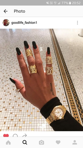 jewels ring bagues cuff gold jewelry knuckle ring silver ring accessories