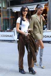 pants,top,bella hadid,model off-duty,fall outfits,celebrity