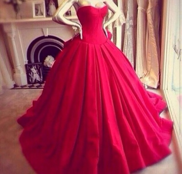 red dress red gown