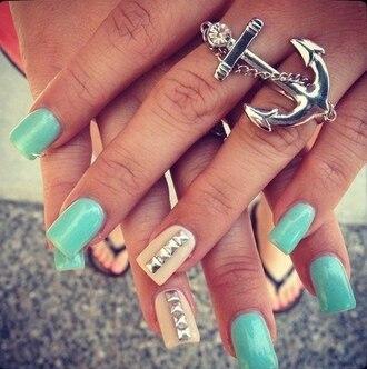 jewels anchor ring nail polish bag