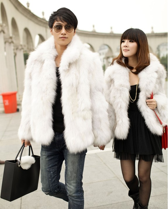 Free shipping 2013 lovers lovers medium long faux fur overcoat black and white fur coat-inFur & Faux Fur from Apparel & Accessories on Aliexpress.com
