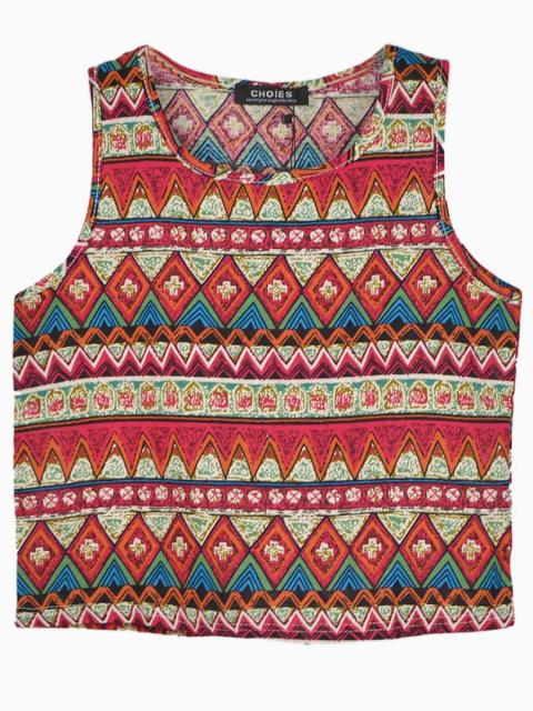 Red Sleeveless Shirt In Folk Print | Choies