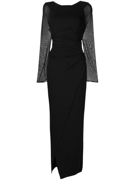 Talbot Runhof dress women spandex black
