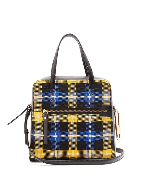 Joseph cross bag leather black yellow