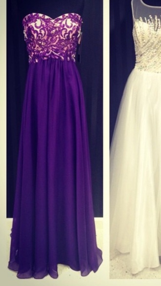 dress purple dress prom dress prom dresses /graduation dress .party dress lace dress purple prom dresses beautiful ball gowns strapless dresses