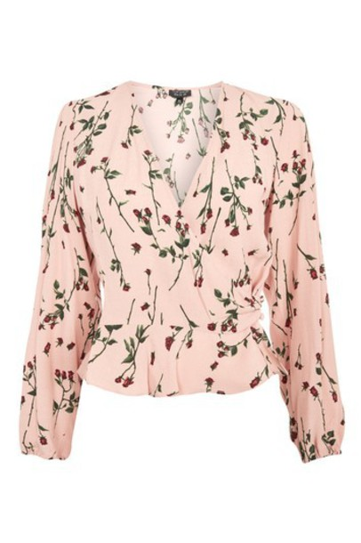 Topshop top rose nude print