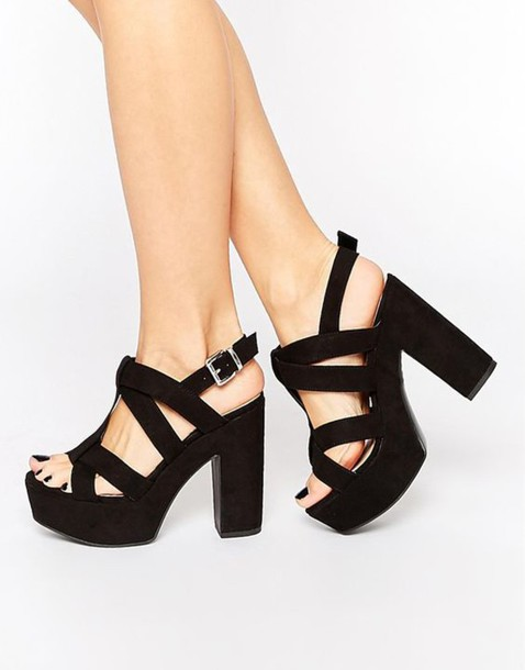 wide platform heels