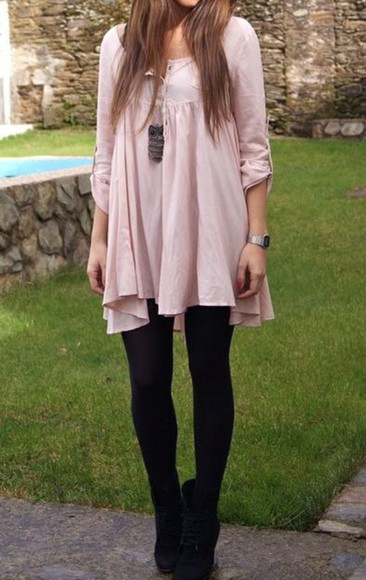 flowy baby pink high-neck blush pink longsleeve fall sweater cute sweaters blouse