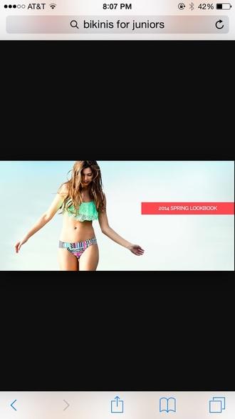 swimwear bikini tumblr cute tops teal