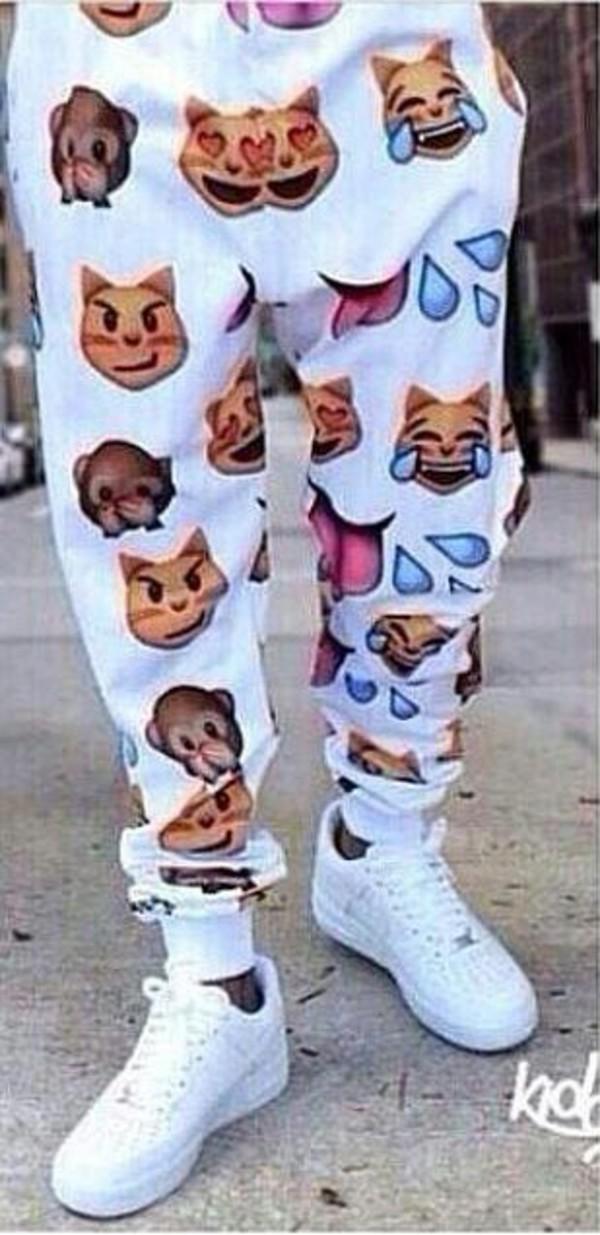 pants white emoji pants
