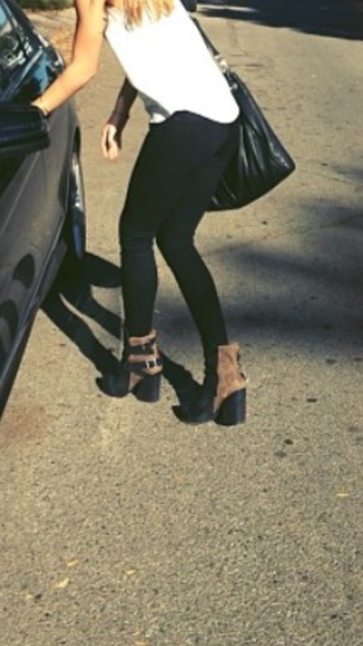 shoes brown shoes heels boots ankle boot