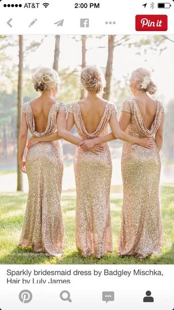 dress bridesmaid gold dress sparkly dress
