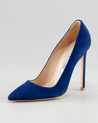 Navy Blue Pointed Toe Pumps