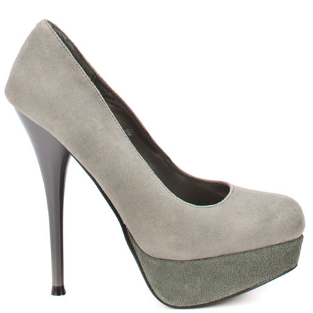Luichiny's Grey Leg Acy - Grey Suede for $63.99 direct from heels.com