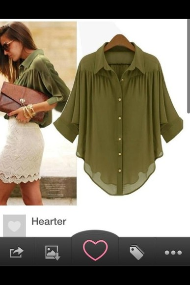 blouse green blouse