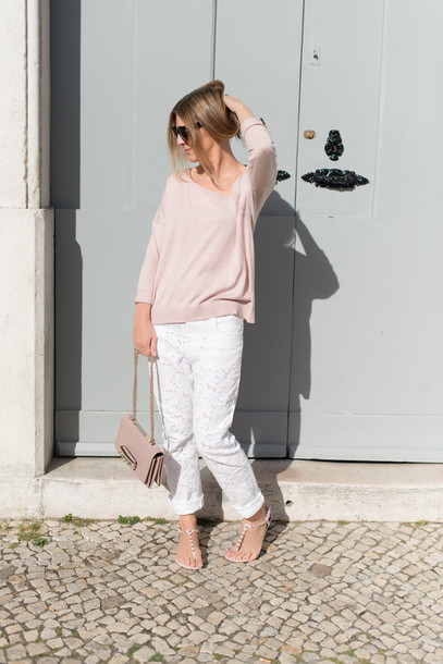 the working girl sweater pants bag shoes sunglasses jewels