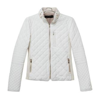 jacket white jacket padded fall acket crop jacket stand collar