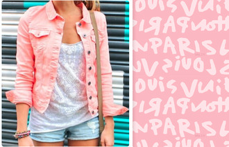 jacket summer pink denim cute fashion coral teenagers