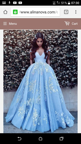 dress blue dress ball gown dress