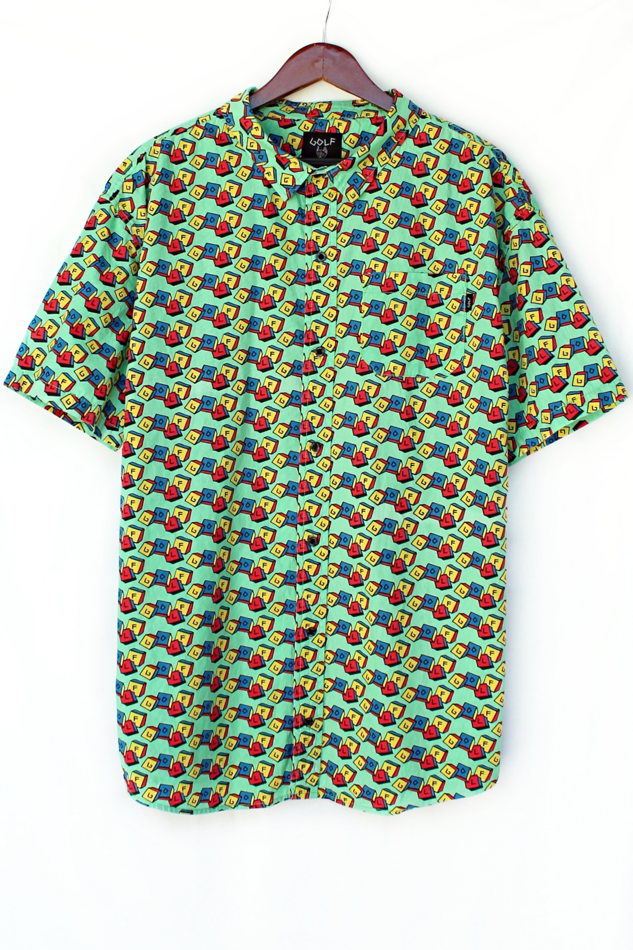 Golf Blox Woven Button-Down Shirt | Just Vu