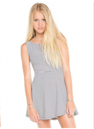 dress clothes black white perfectdress cute beautiful short little dress short dress little black dress hipster boho skater dress stripes striped dress brandy melville