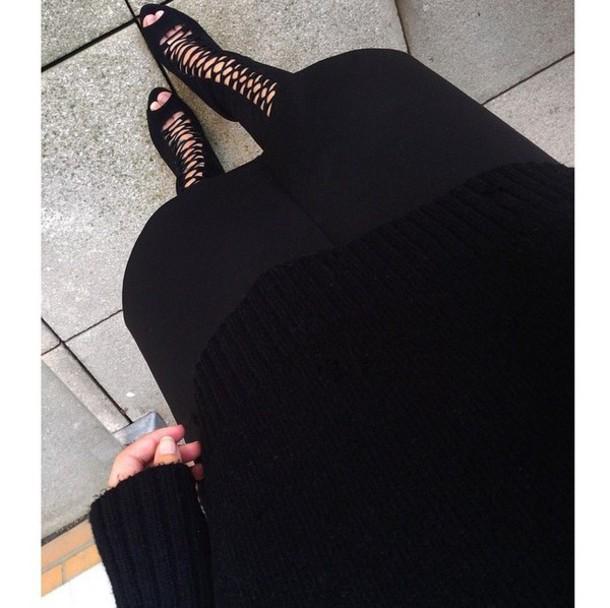 shoes black heels black boots