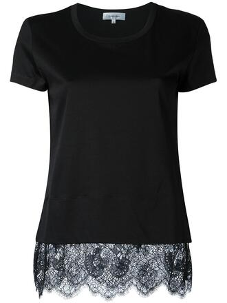 top fashion clothes farfetch lace trim blouse