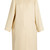 Nettle collarless silk-cloqué coat