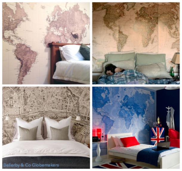 Jewels map world map print furniture tumblr home decor
