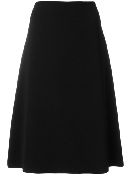 Ql2 skirt women midi spandex black wool