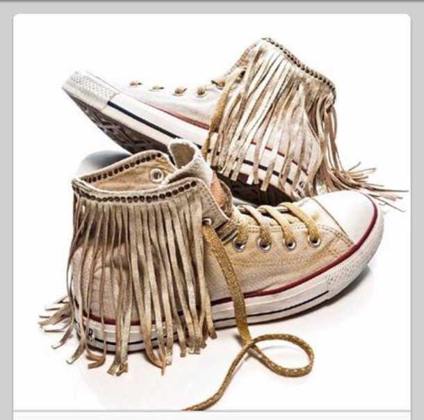 5b143d8b2bf shoes fringes converse brown light brown shoes hippie hipster native native  american boho bohemian gypsy