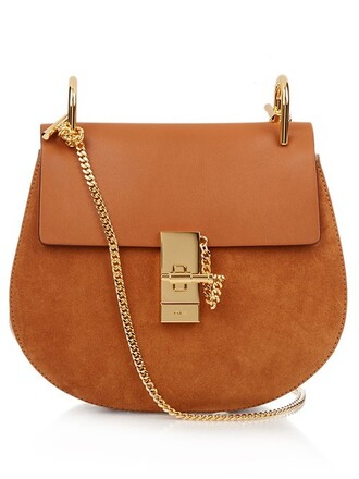 cross bag leather suede tan