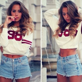 sweater colorful jumper crop tops cropped sweater t-shirt
