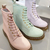 PASTEL COMBAT BOOTS on The Hunt