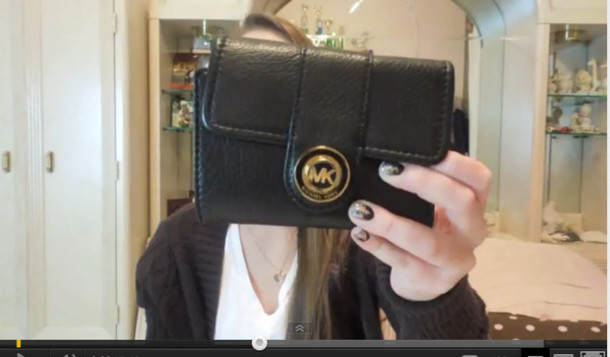 bag black leather leather wallet small wallet michael kors