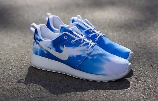finest selection 46e0a 762ae shoes nike nike running shoes blue nike fashion women girl sportswear nike  sport elmundodesage roshes trainers