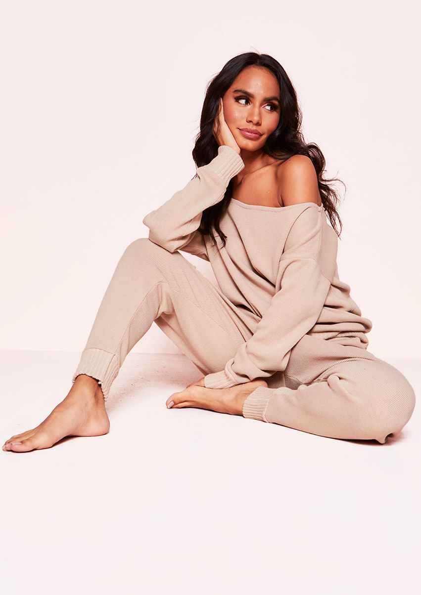 Jacky Beige Jumper Loungewear Set