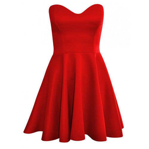 Marilyn sweetheart skater dress in red