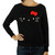 Vans Hello Kitty Whiskers sweater in Black True White at Revert Ladies