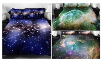 home accessory space galaxy print bedding