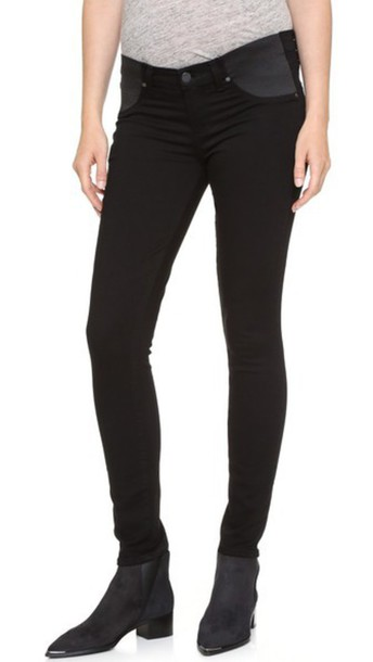 Paige Denim Transcend Verdugo Ultra Skinny Maternity Jeans - Black Shadow