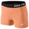 """Nike pro 3"""" compression short - women's - training - clothing - atomic orange/lt base grey"""