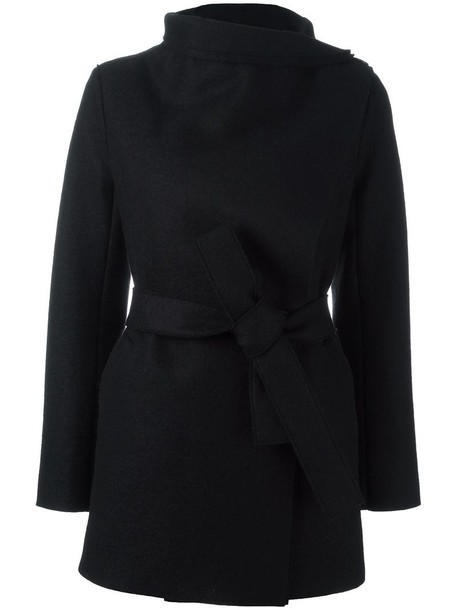 HARRIS WHARF LONDON coat women black wool